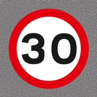 30 mph Speed Limit Road Sign